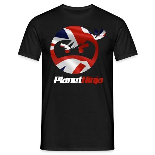 UK White Ninja mens T-shirt - Men's T-Shirt