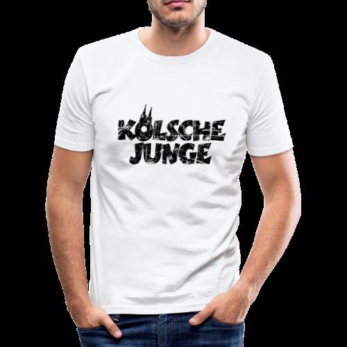 Kölsche Junge (Vintage Schwarz) Slim Fit T-Shirt - Männer Slim Fit T-Shirt