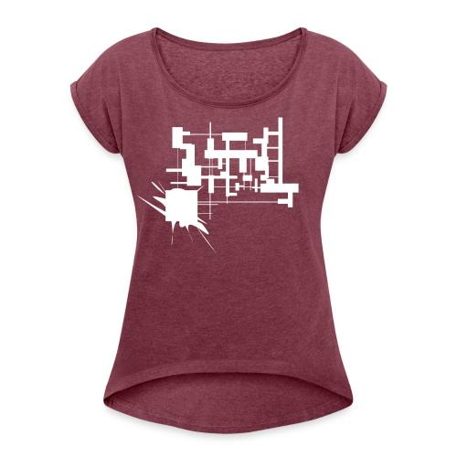 USINE - T-shirt à manches retroussées Femme