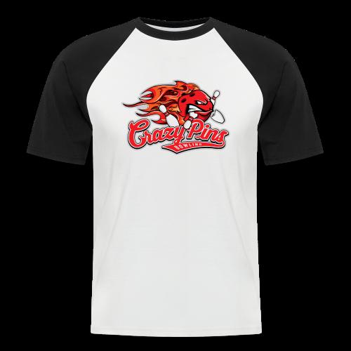 Retro Shirt Crazy Pins Bowling - Männer Baseball-T-Shirt