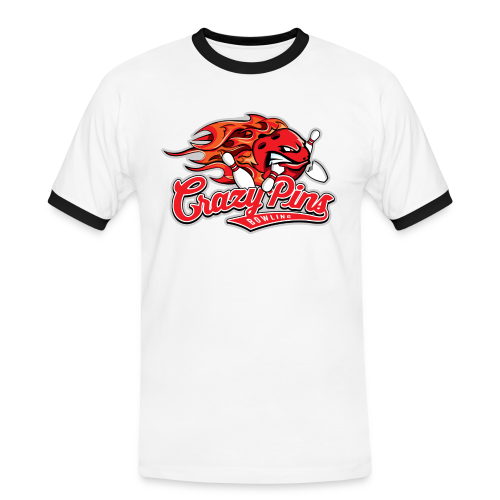 Männer Retro Shirt II - Crazy Pins Bowling - Männer Kontrast-T-Shirt
