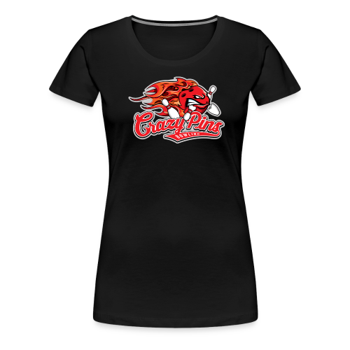 Girlie Shirt Crazy Pins Bowling - Frauen Premium T-Shirt
