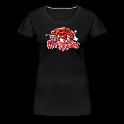 Girlie Shirt Crazy Pins Bowling - Frauen Premium T-Shirt