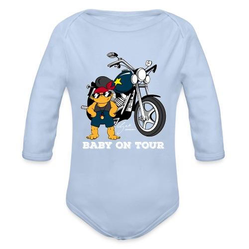 Baby on Tour - Biker Baby - Baby Bio-Langarm-Body