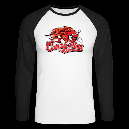 Langarm-Shirt Crazy Pins Bowling - Männer Baseballshirt langarm