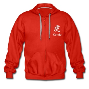 ZIP HOODIE (RED) - Men's Premium Hooded Jacket