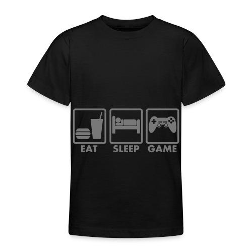 teen eat sleep game shirt - Teenage T-shirt