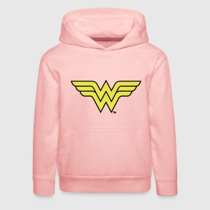 Justice League Wonder Woman Logo - Premium Barne-hettegenser