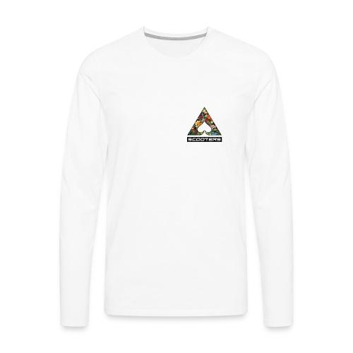 MENS ACE LONGSLEEVE - HEART (WHT) - Men's Premium Longsleeve Shirt