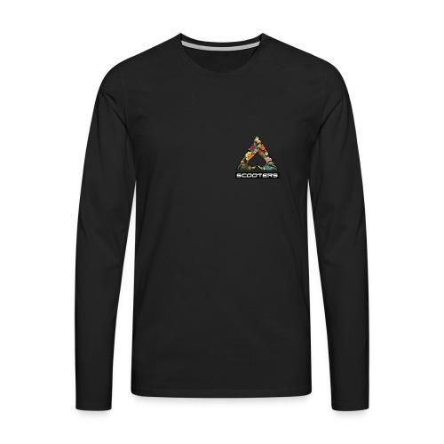 MENS ACE LONGSLEEVE - HEART (BLK) - Men's Premium Longsleeve Shirt