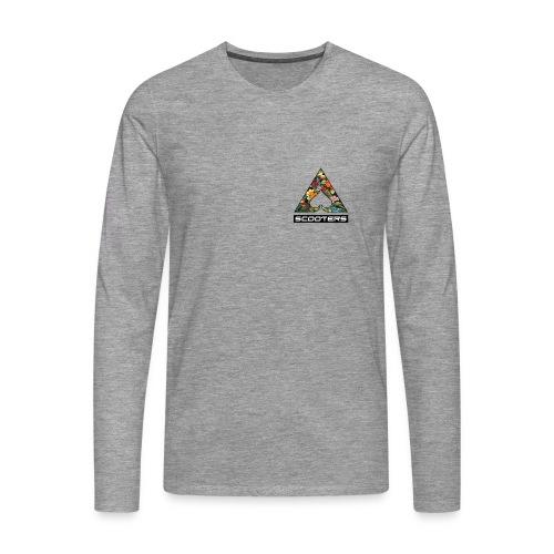 MENS ACE LONGSLEEVE - HEART (GRY) - Men's Premium Longsleeve Shirt