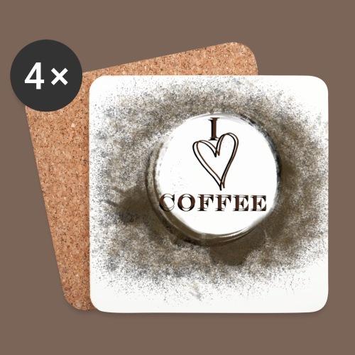 I love coffee  - Coasters (set of 4)