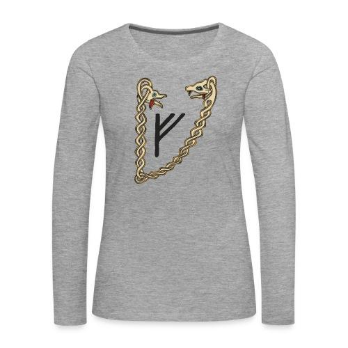 Valsgaard Damen-Langarm Shirt - Druck vorne und hinten - Frauen Premium Langarmshirt
