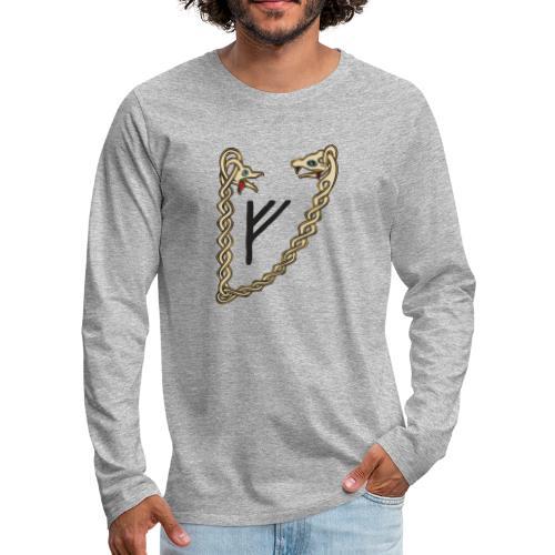 Valsgaard Herren-Langarm Shirt - Druck vorne und hinten - Männer Premium Langarmshirt