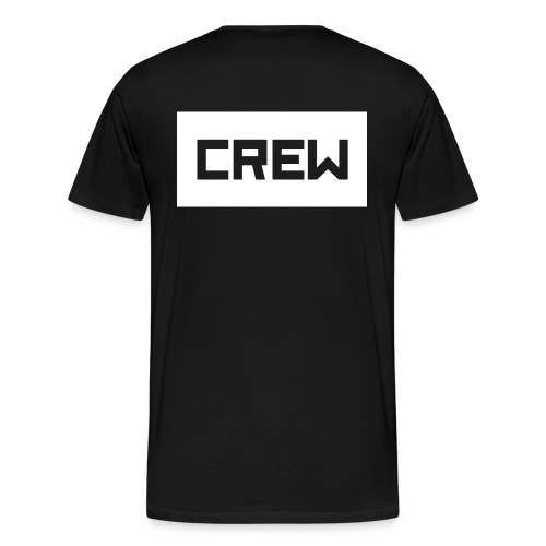 CR3W shirt black - Mannen Premium T-shirt