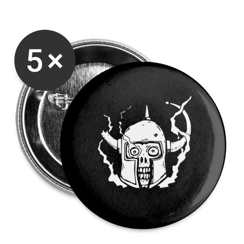 Liten knapp, Dödskalle - Små knappar 25 mm (5-pack)