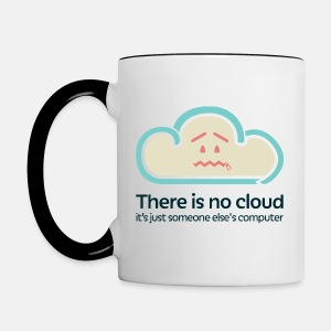 'There Is No Cloud' Mug - Original - Contrasting Mug