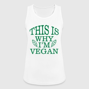 THIS IS WHY I'M VEGAN! Sports wear - Women's Breathable Tank Top