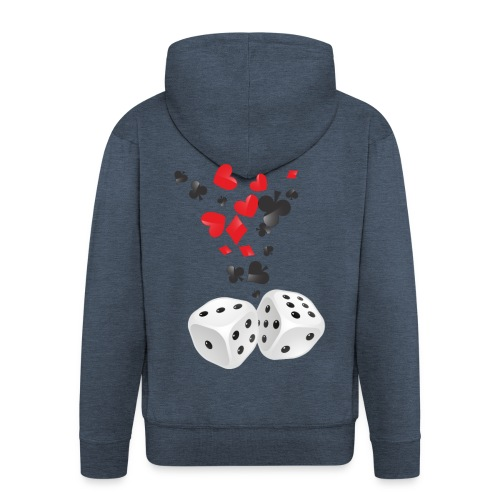 Sweater - Poker - Mannenjack Premium met capuchon