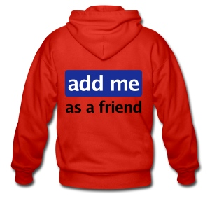 Sweater - Add me (as a friend) - Mannenjack Premium met capuchon