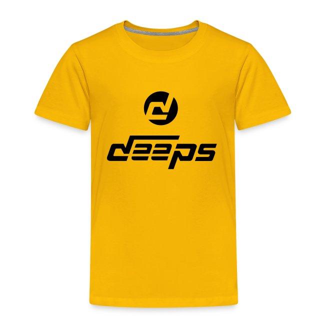 Deeps t-shirt kids logo noir