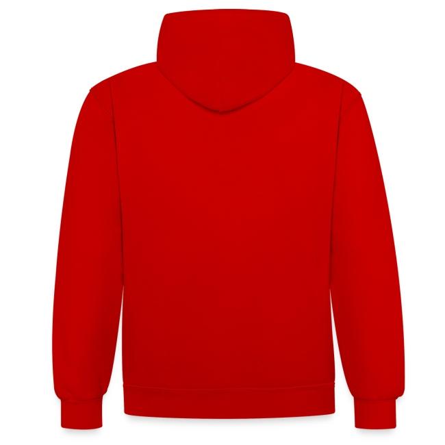 Deeps hoodie bicolor logo blanc