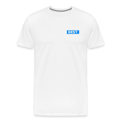 Best Blue Logo Tshirt - Men's Premium T-Shirt