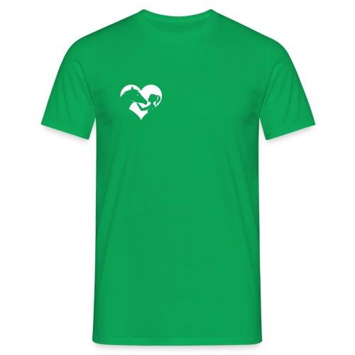Horse Girlie Heart green - Männer T-Shirt