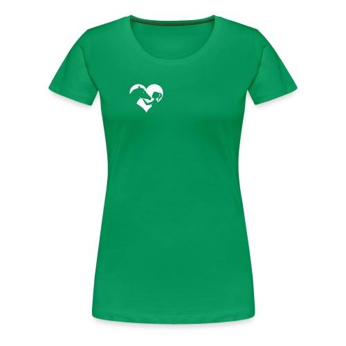 Horse Girlie Heart green - Frauen Premium T-Shirt