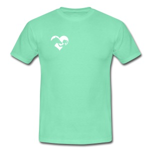 Horse Girlie Heart mint - Männer T-Shirt
