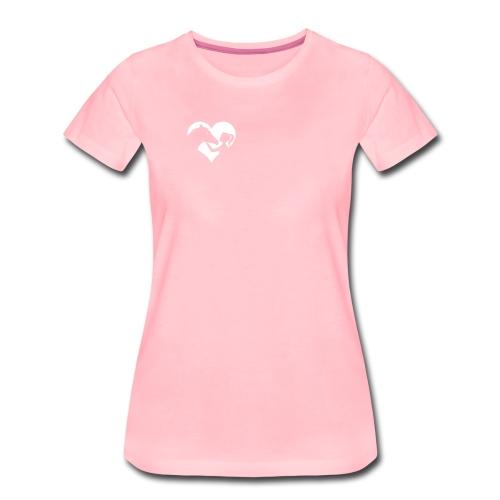 Horse Girlie Heart pink - Frauen Premium T-Shirt
