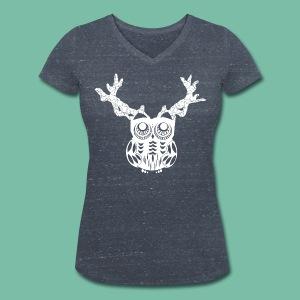 tee shirt bio femme hibou Cerf Brocéliande  Spirit - T-shirt bio col V Stanley & Stella Femme