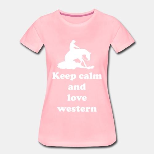 keep calm and love western shirt - Frauen Premium T-Shirt