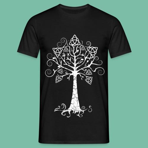 Tee shirt noir Homme arbre Brocéliande  Spirit - T-shirt Homme