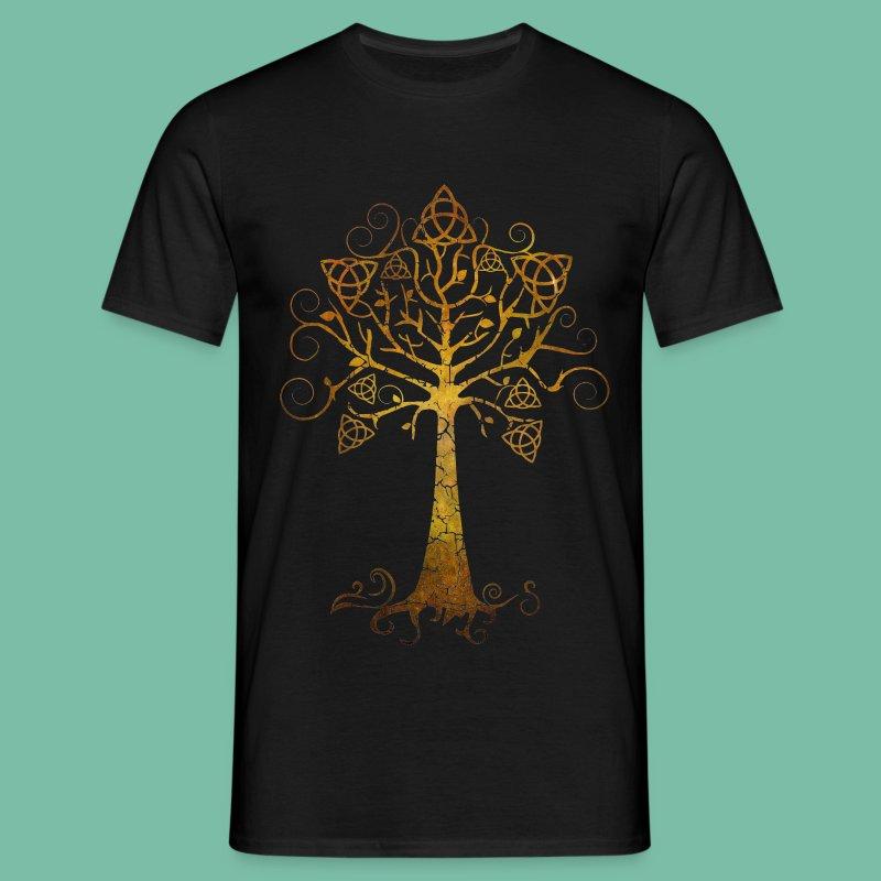 Tee shirt homme arbre phare Brocéliande Spirit - T-shirt Homme