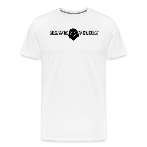 Hawk Vision Logo T-Shirt White - Männer Premium T-Shirt