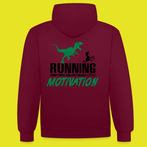 Sweat-shirt à capuche Running Team H/F - Sweat-shirt contraste