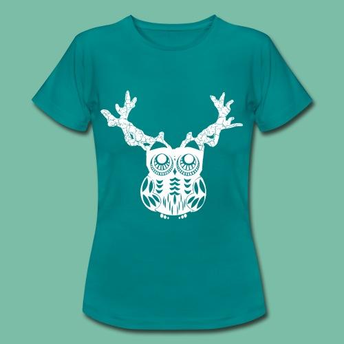 T- shirt femme hibou Cerf Brocéliande  Spirit - T-shirt Femme