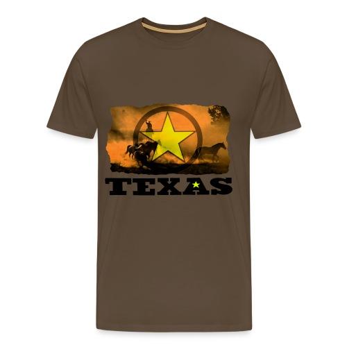 Texas Cowboy T Shirt - Men's Premium T-Shirt