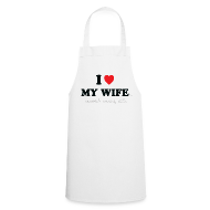 Aprons ~ Cooking Apron ~ I Love My Wife 's Sandwich Making Skills