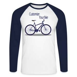 Vélo Fixie - Tee shirt baseball manches longues Homme