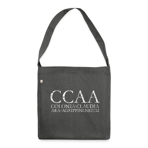 CCAA Colonia Claudia Ara Agrippinensium (Vintage Weiß) Recycling Tasche - Schultertasche aus Recycling-Material