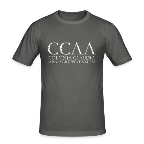 CCAA Colonia Claudia Ara Agrippinensium (Vintage Weiß) Slim Fit T-Shirt - Männer Slim Fit T-Shirt
