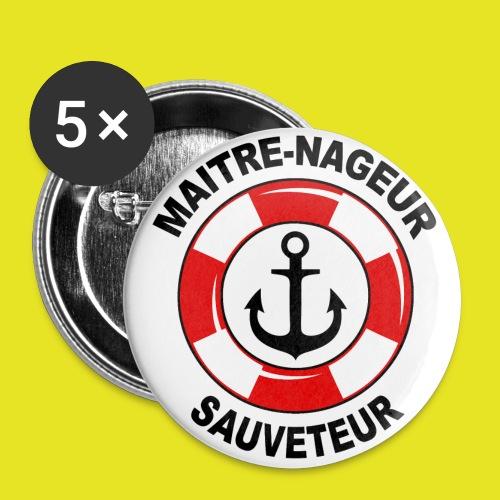 Badge Maître Nageur Sauveteur - Badge grand 56 mm