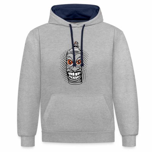 Contrast Colour Hoodie - gravity hoodie. gravity