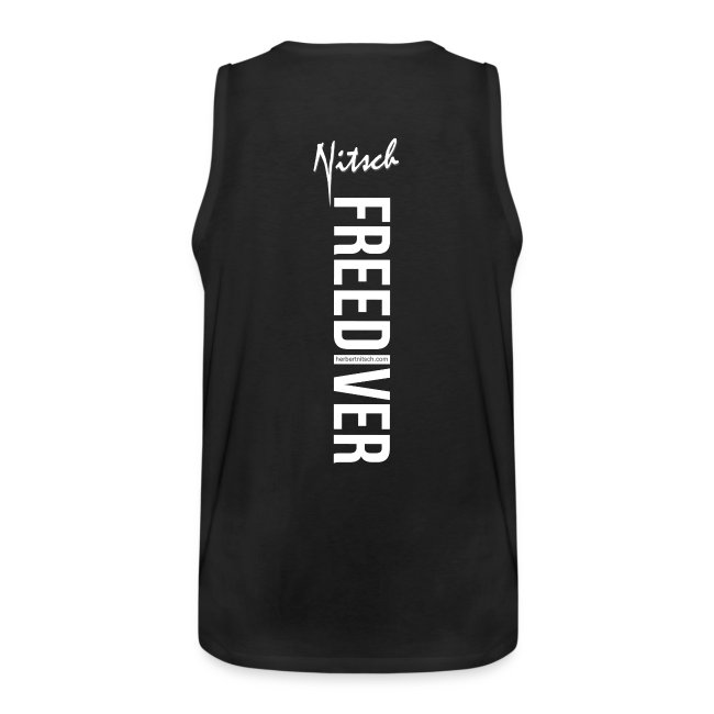 Breathing is Overrated - Tank top - white print