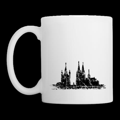 Kölner Dom St.Martin (Vintage Schwarz) Tasse - Tasse