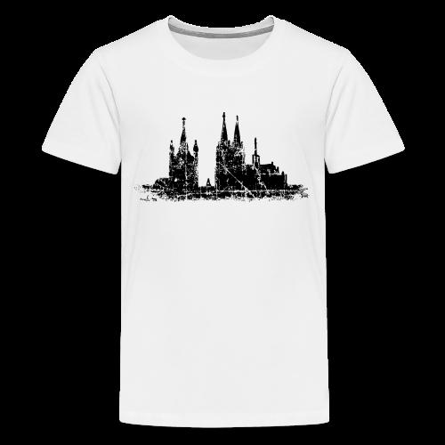 Kölner Dom St.Martin (Vintage Schwarz) Teenager T-Shirt - Teenager Premium T-Shirt