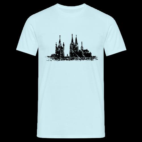 Kölner Dom St.Martin (Vintage Schwarz) Köln T-Shirt - Männer T-Shirt