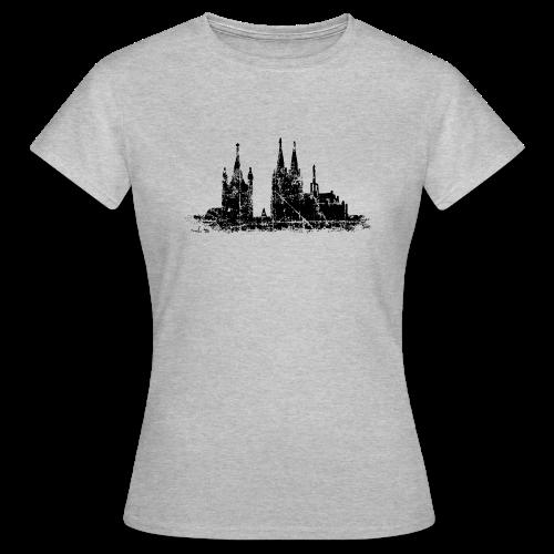 Kölner Dom St.Martin (Vintage Schwarz) Köln T-Shirt - Frauen T-Shirt
